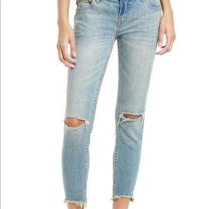 Free People ankle crop skinny jeans sz 27